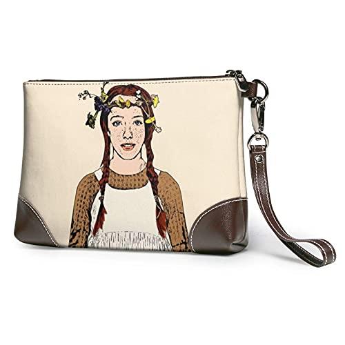 XCNGG Bolso de mano Bolso de mano de piel Anne con un sobre E Cartera y estuche de transporte Bolso de maquillaje Mujeres Niñas
