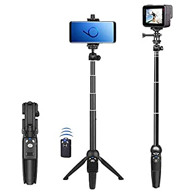 Selfie Stick, 40 inch Extendable Selfie Stick Tripod,Phone Tripod with Wireless Remote Shutter Compatible with iPhone 12 11 pro Xs Max Xr X 8Plus 7, Android, Samsung Galaxy S20 S10,Gopro and More by BZE
