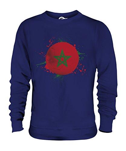 Candymix Marokko Fußball Unisex Herren Damen Sweatshirt, Größe Small, Farbe Navy Blau