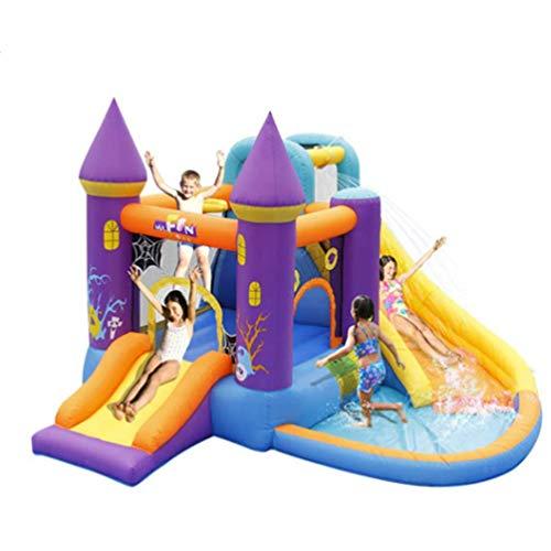AJH Castillo hinchable para niños, tobogán doméstico, trampolín, plaza de saltos, tobogán de agua, tobogán de escalada, piscina infantil