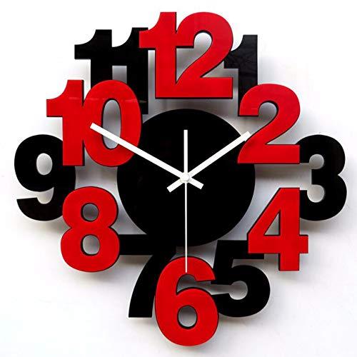 Horloge Murale l'horloge De La Créativité Simple Salon La Mode Art Montre Muet Chambre Horloge À Quartz Réveil Numérique. B 20 Cm