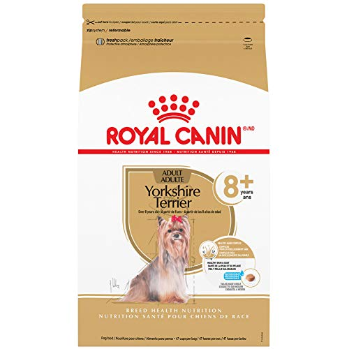 Royal Canin Yorkshire Terrier Adult 8+ Dry Dog Food for Aging Dogs, 10 lb Bag