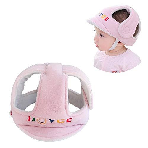 Baby Kopfschutz Schutzhelm, Atmungsaktiv Sicherheit Kopfschutzmütze, Schutzkappe Geschirre Hut für Baby Kleinkind Lernen Laufen und Sitzen, Rosa