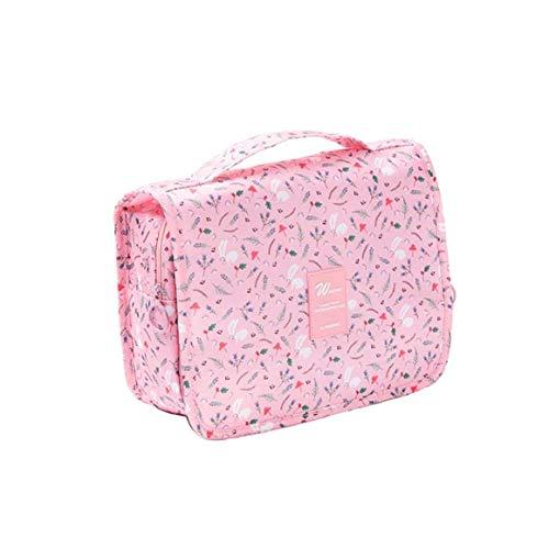Wash Voyage Sac d'impression multifonction portable Sac étanche maquillage Toiletry Housse haute capacité Organisateur pour Voyage (lapin rose style)