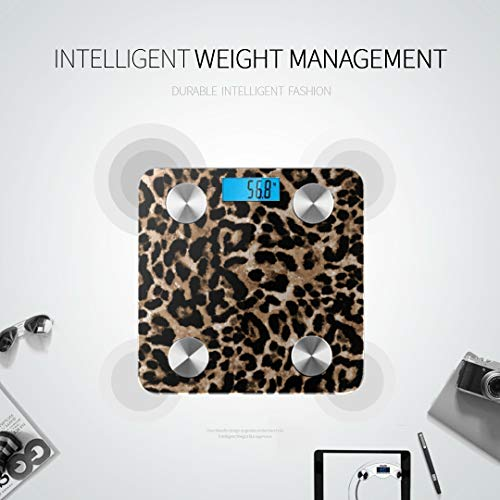 LRGUI Bluetooth Body Fat Scale Endless Hand Painting Animal Smart Wireless Scale with LCD Display Measuring Body Weight Bmi and Health Digital Scale Best