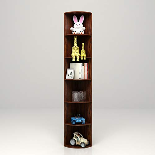 HM&DX Holz Bücherregal eckregal Regal, 6-Stufen Aufbewahrungsregal Display-Rack Bücherregal Möbel...
