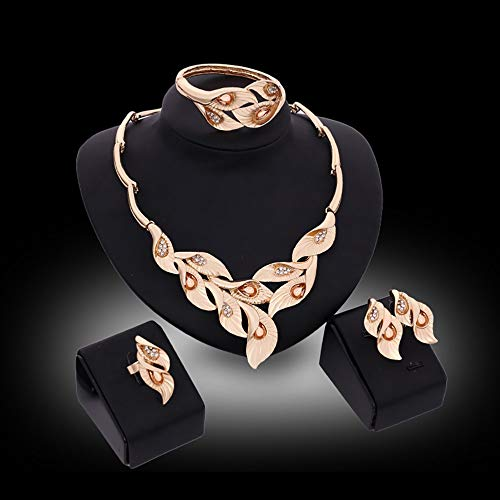 LeftSuper Conjunto, 61154157 Conjunto de Adornos para niñas Collar de Dama Pulsera de Mujer Par de Pendientes