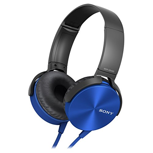Sony MDR-XB450AP Headphones with Extra Bass (Blue)
