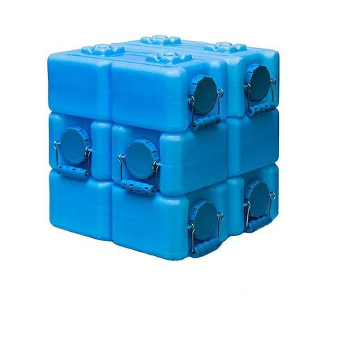 WaterBrick 3.5 Gallon BPA Free Portable and Stackable - 6 Pack
