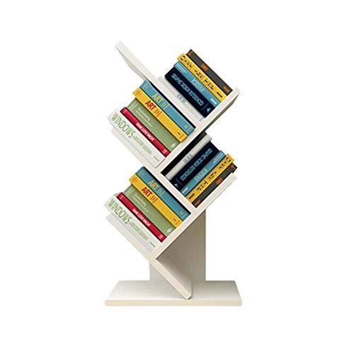 YLCJ Boekenkasten Planken voor kasten planken Boekenplank MDF Opslag van trappen Desktop opslag Rek Organizer Display Boeken 31 * 17 * 60cm Home Office (Kleur: hout kleur)