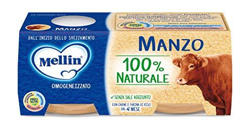 Mellin Omogeneizzato di Manzo 100% Naturale – 24 Vasetti da 80 gr