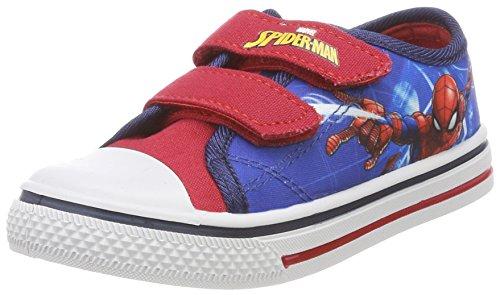 Spiderman Boys Kids High Sneakers, Baskets Hautes Garçon Fille, H Red White Navy D C Blue, 32 EU