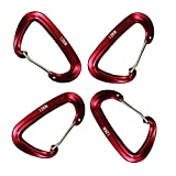 CYHOMELIFE 12 KN Aluminum Carabiners Outfitters,Ultra Lightweight Carabiners,High Strength Carabiner Key Chain Clip Hook Heavy Duty Small Caribeaners for Gym Hammock Backpack Keychain Dog Leash