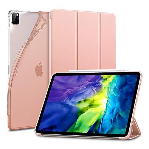 ESR para iPad Pro 11 Case 2020 e 2018, Capa Slim Bounce Elegant com Desligamento Automático [Modo Stand/Write] [Parte Traseira Flexível de TPU com Capa de Borracha] - Rose Gold