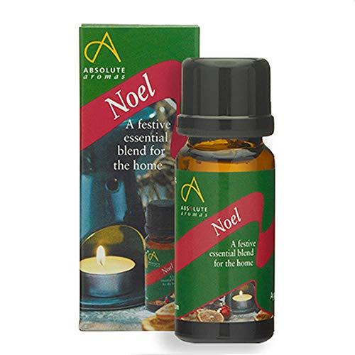 Absolute Aromas huile essentielle festive de Noël 10ml avec de l'huile de cannelle, clou de girofle, encens, orange, myrrhe et de pin - parfait pour diffuser à Noël