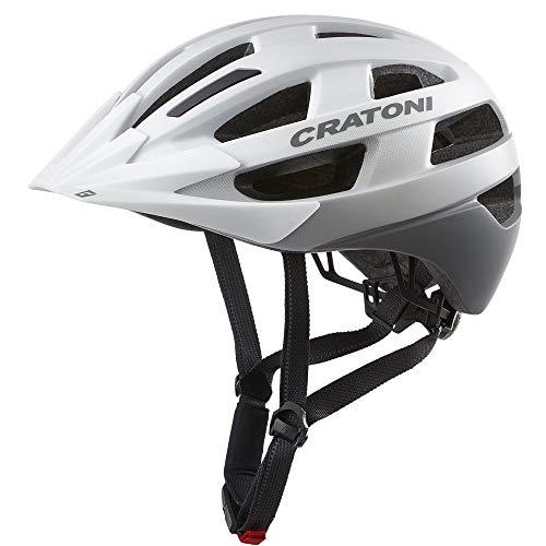 Wetterladen Cratoni Velo-X lichte allroundhelm fietshelm inlinerhelm met achterlicht, maat M/L, wit