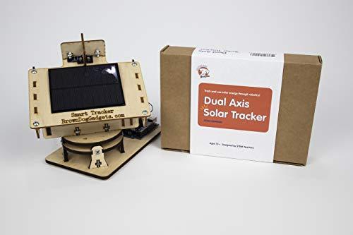 Brown Dog Gadgets - Dual Axis Smart Solar Tracker - Full Kit, STEM Educational Kits for Kids