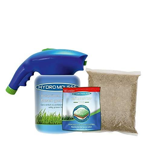 Hydro Mousse | Begrünungssystem | Gras-Saat-System | Sprühsystem | Nachsaat | Gartenschlauch-Anschluss | Sprüh- und Saataufsatz | Saatbehälter | Das Original aus dem TV von Mediashop