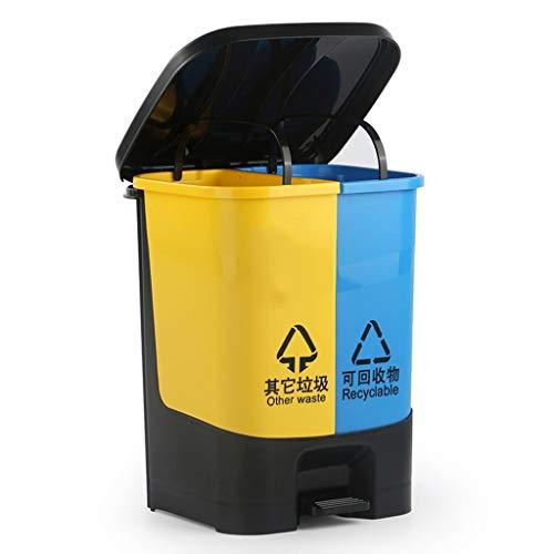 ZXL Classificatiemand voor huishoudelijk gebruik, creatief, vierkant, kunststof mand, keukenhulp, hygiënisch, voor buiten, met deksel, grote mand (maat: 12L)