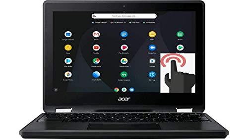 Acer Spin 11 2-in-1 Convertible 11.6' HD Touchscreen WLED-Backlit Chromebook, Intel Celeron N3350 Processor, 4GB Memory, 32GB eMMC, Bluetooth, WiFi, Webcam, Google Chrome OS, Obsidian Black (Renewed)