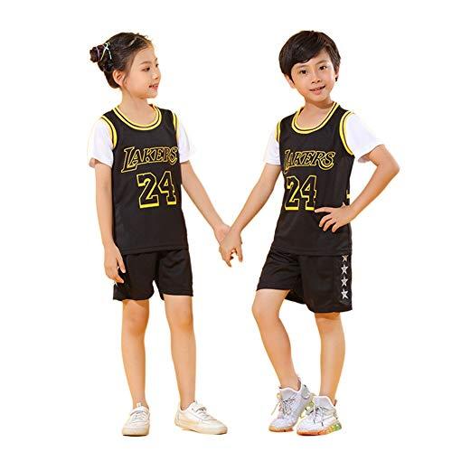QINYA Camiseta Baloncesto Niño Niño Michael Jordan # 23 Chicago Bulls Retro Pantalones Cortos De Baloncesto Camisetas De Verano Uniformes Y Tops De Baloncesto (XS,23)
