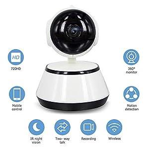 Decdeal Vigilabebés 720P HD Cámara de Video con WiFi Inalámbrico APP Control IR de Visión Nocturna para la Seguridad del Hogar Bebé Monitor EU