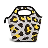 VimcustomPr Bolsa de almuerzo con estampado de leopardo, con...