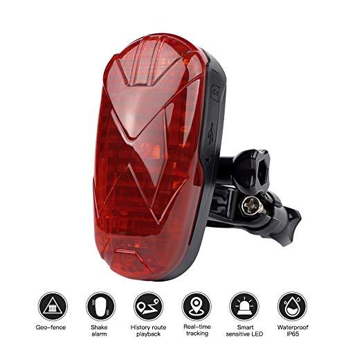 HAJZF GPS De Seguimiento De La Bicicleta Localizador De Largo Tiempo De Espera Impermeable SOS Sobrevelocidad Llevó La Luz del GPS para Motocicleta De La Bici De Ruedas