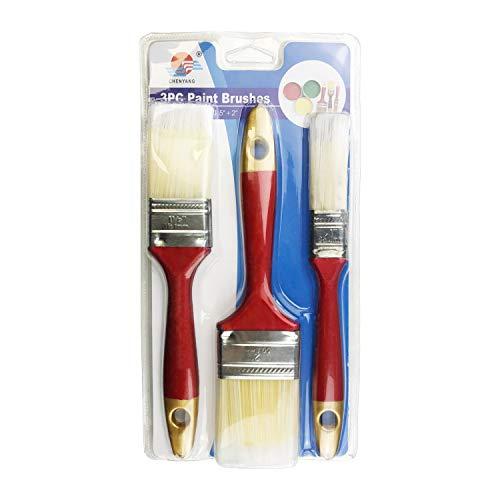 Aurstore Basic - Set di 3 pennelli da pittura, 3 pezzi (3)