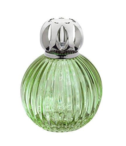 Lampe Berger 4469 Store plissé Verte, Verre, Lampe à Parfum Verre : Vert/Transparent, 6 x 6 x 12,5 cm