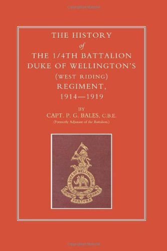 HISTORY OF THE 1/4TH BATTALION, DUKE OF WELLINGTON'S (WEST RIDING) REGIMENT 1914-1919 (English Edition)