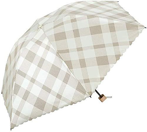 ZJJJD Sombrilla Parasol Aislamiento Térmico Protector Solar Protección UV Jaula Plegable Sombrilla-d Hermoso Paraguas Flexible Duradera Antideslizante A Prueba De Viento Permite Ahorrar Espacio