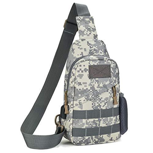 Shiwu Tactical Military Sling Chest Pack Rugzak Crossbody Rugzak Molle Daypack Schoudertas Army Equipment Gear voor fietsen, kamperen, paardrijden, jacht