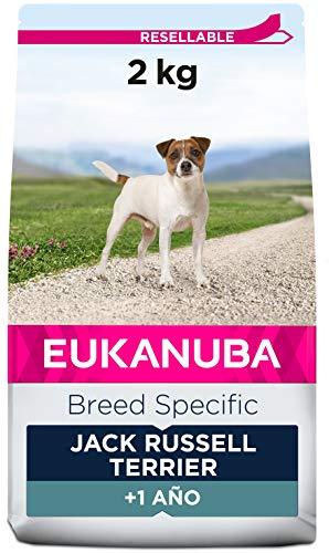 EUKANUBA Breed Specific Alimento seco para perros jack russell terrier adultos, alimento para perros óptimamente adaptado a la raza 2 kg