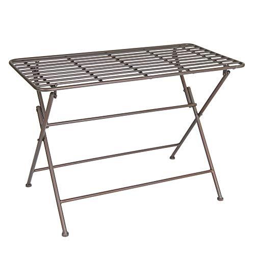 MC tuintafel tafel metaal rechthoekig L = ca. 70 cm W = ca. 35 cm H = ca. 47 cm.