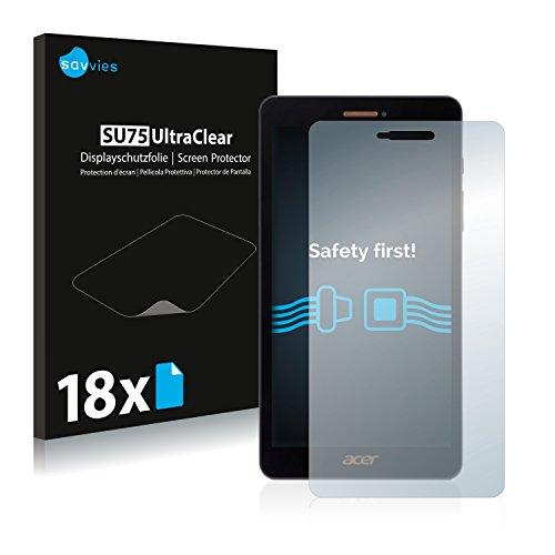 Savvies 18x Schutzfolie kompatibel mit Acer Iconia Talk S A1-734 Bildschirmschutz-Folie Ultra-transparent