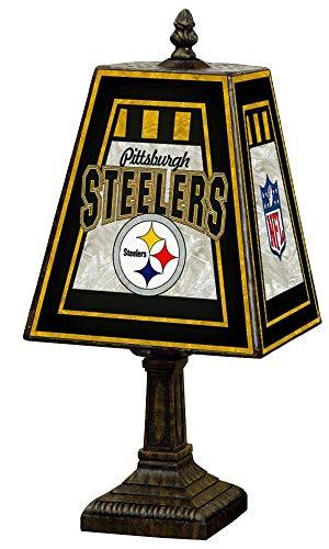 NFL Pittsburgh Steelers 14 Inch Art Glass Lamp