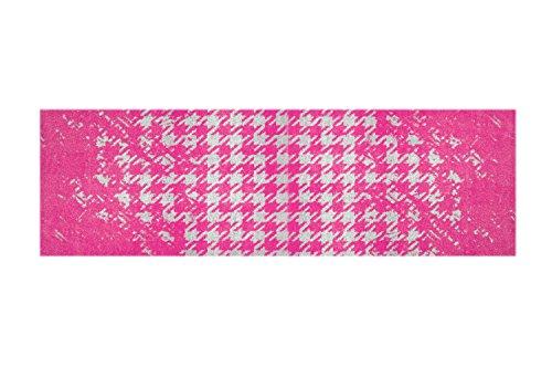LifeStyle-Mat Designer Fussmatte Haustür – Fussmatten rutschfest und waschbar – Schmutzfangmatte/Fussabstreifer – PINK 50x150cm