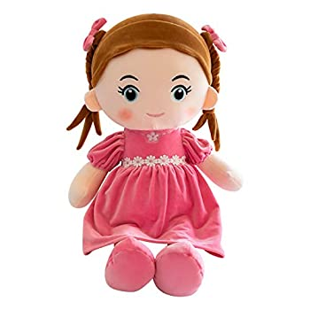 Handmade Baby Doll Baby Вirthday Gift Doll with Clothes Handmade Rag Dolls for Home Decoration and Interior Design,14 Inch Children s Day Gift Toy  Pink