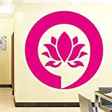 Mandala Sign Tatuajes de pared Buda Lotus Pegatinas de pared para el dormitorio Decoración del hogar Flor Decoración del hogar Vinilo Etiqueta de la pared Dormitorio color-3 74x74cm