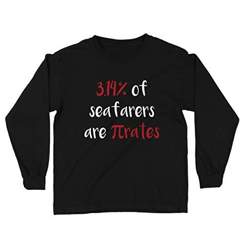 lepni.me Camiseta para Niño/Niña 3.14% de los Marineros Son Pi-Rates Matemáticas Cuota de Humor (5-6 Years Negro Multicolor)