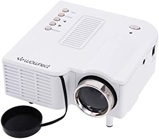 Wownect UC28+ Mini Portable LED Projector [ 48 Lumens ] [ 320 x 240 Native Resolution ] [ 16:9 Aspect Ratio ] Home Cinema ...
