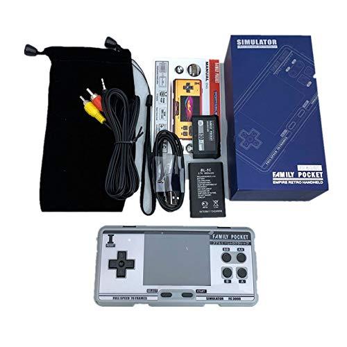 Console de jeu portable, écran IPS de 3,0 pouces, jeux 1094 intégrés, sortie AV de console de jeu classique, 8 émulateurs, jeux vidéo pour enfants et adultes