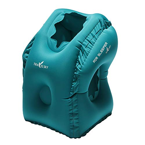 GAOQQ Outdoor Travel Inflatable Pillow, Multi-Function Nap/Back Pillow,Blue