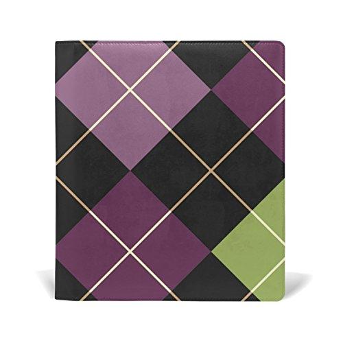 COOSUN Halloween Patchwork-Muster-Buch Sox dehnbare Buchdeckel, geeignet für die meisten Hardcover Lehrbücher bis zu 9 x 11. leimlose, PU-Leder-Schule-Buch-Schutz 9-x-11-Zoll mehrfarbig