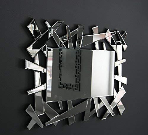 MirrorOutlet Espejo Veneciano Grande y Moderno Hexagonal de 81 cm x 122 cm.