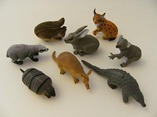 Waldtiere Wildtiere Zootiere 8er Spieltiere Spielzeug Tiere Tier Figur Figuren, Set 2