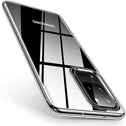 TORRAS Crystal Clear für Samsung Galaxy S20 Ultra Hülle [Anti Gelb und Ultra Dünn] Silikon Galaxy S20 Ultra Hülle Slim Schutzhülle Handyhülle für Samsung Galaxy S20 Ultra-Transparent