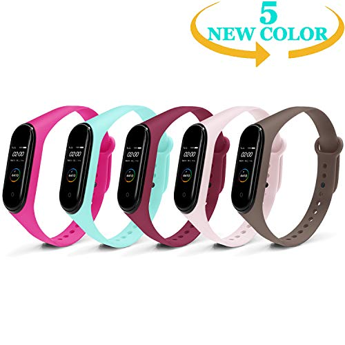 Monuary 5 Piezas Correas Compatible con Xiaomi Mi Band 4 / Mi...