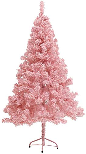 AWAING Christmas Tree for Decor Artificial Christmas Tree With Metal Stand Stable Easy To Assemble Reusable Detachable Pink Christmas Tree Home Office Holiday Decor (Size : 360cm/12FT)